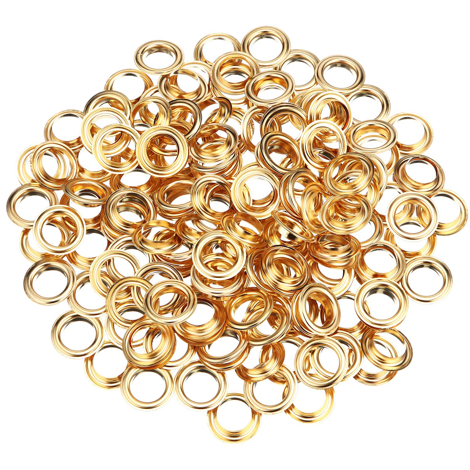 6.35 mm, Bronze 200 Pieces Metal Grommets Eyelets Self Backing with Flat Washer for Bead Clothes Leather Canvas Cores DIY Craft