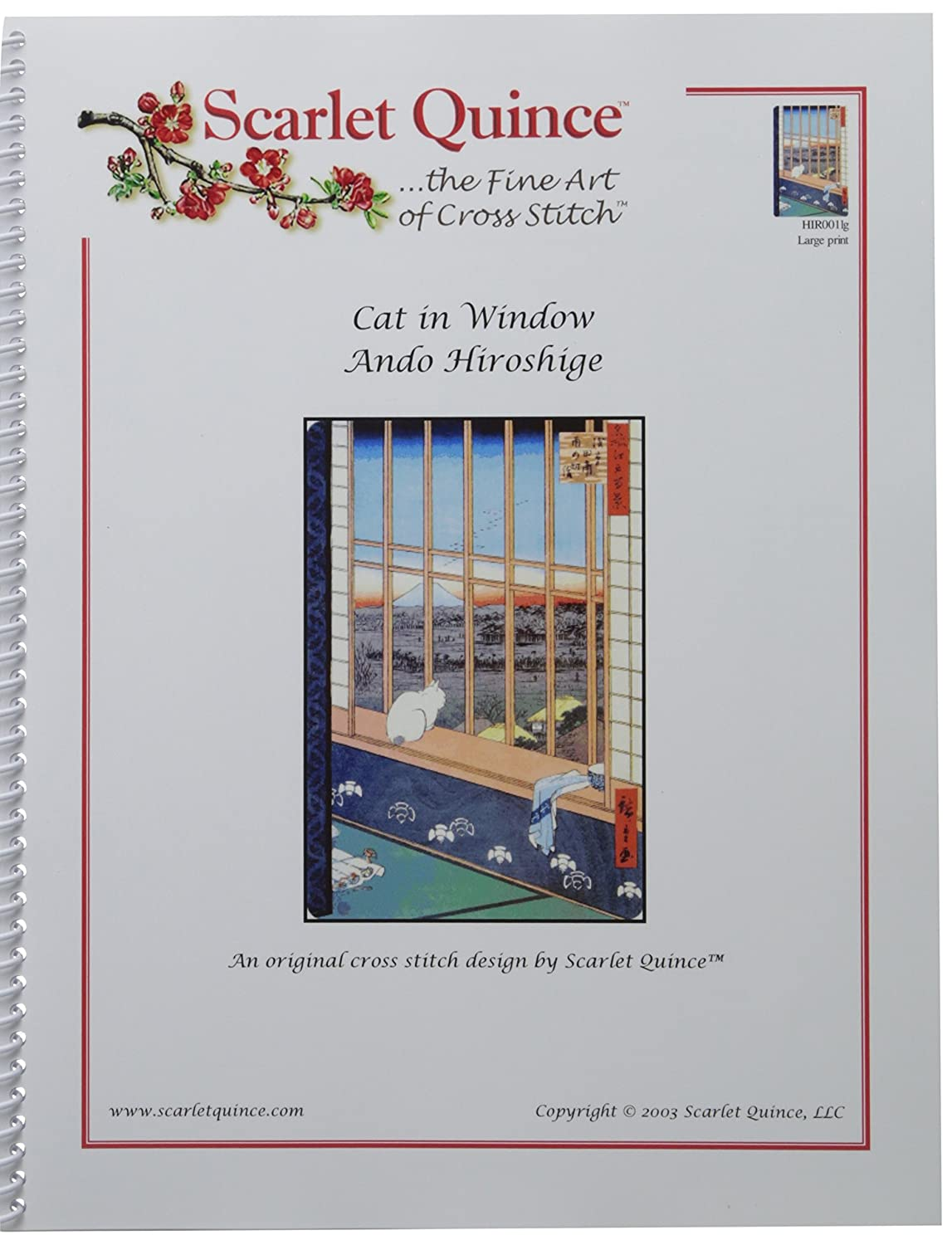 Amazon scarlet quince hir001 cat in window by ando hiroshige amazon scarlet quince hir001 cat in window by ando hiroshige counted cross stitch chart regular size symbols arts crafts sewing biocorpaavc Image collections