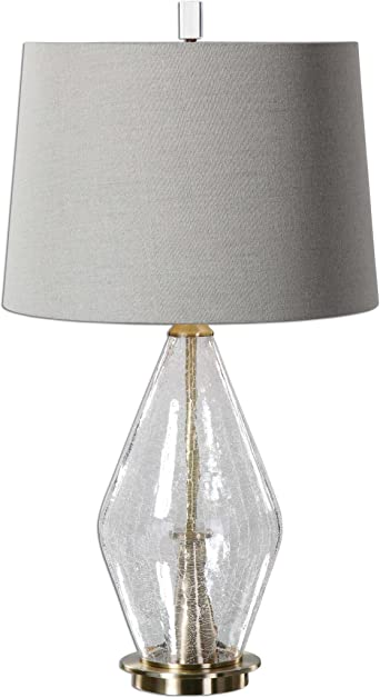 Crackled Glass Table Lamp Amazon Com