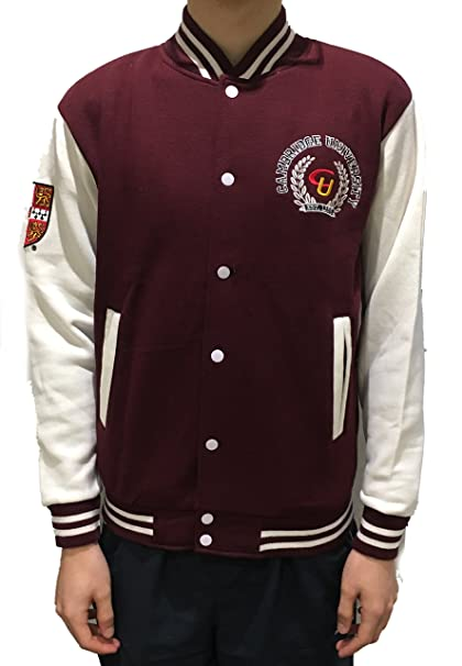 Chaqueta oficial del béisbol del Applique de la universidad de Cambridge - ropa oficial de la universidad famosa de Cambridge: Amazon.es: Ropa y accesorios