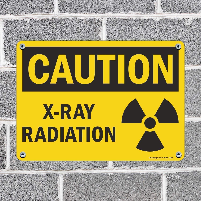 10 x 14 Plastic X-Ray Equipment Sign SmartSignCaution