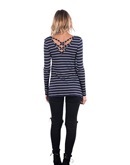 642b8d46c84 Glitz Junior Ladies Striped Hi Lo T Shirt