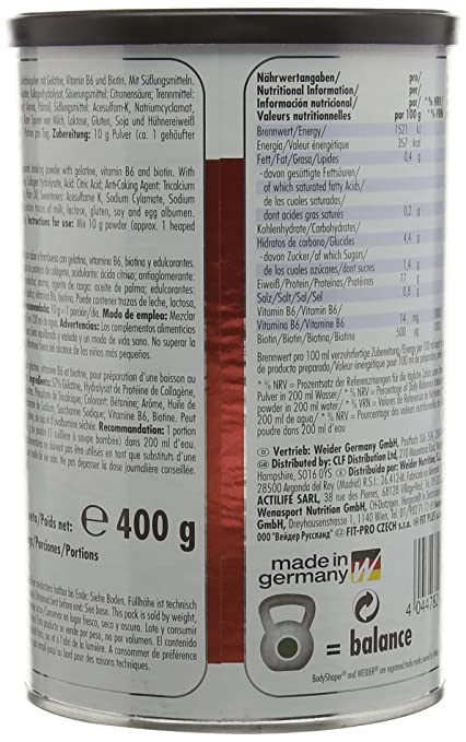Weider Raspberry 400g Body Shaper Gelantine Forte: Amazon.es: Electrónica