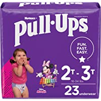 Pull-Ups Girls' Potty Training Pants Training Underwear Size 4, 2T-3T, 23 Ct