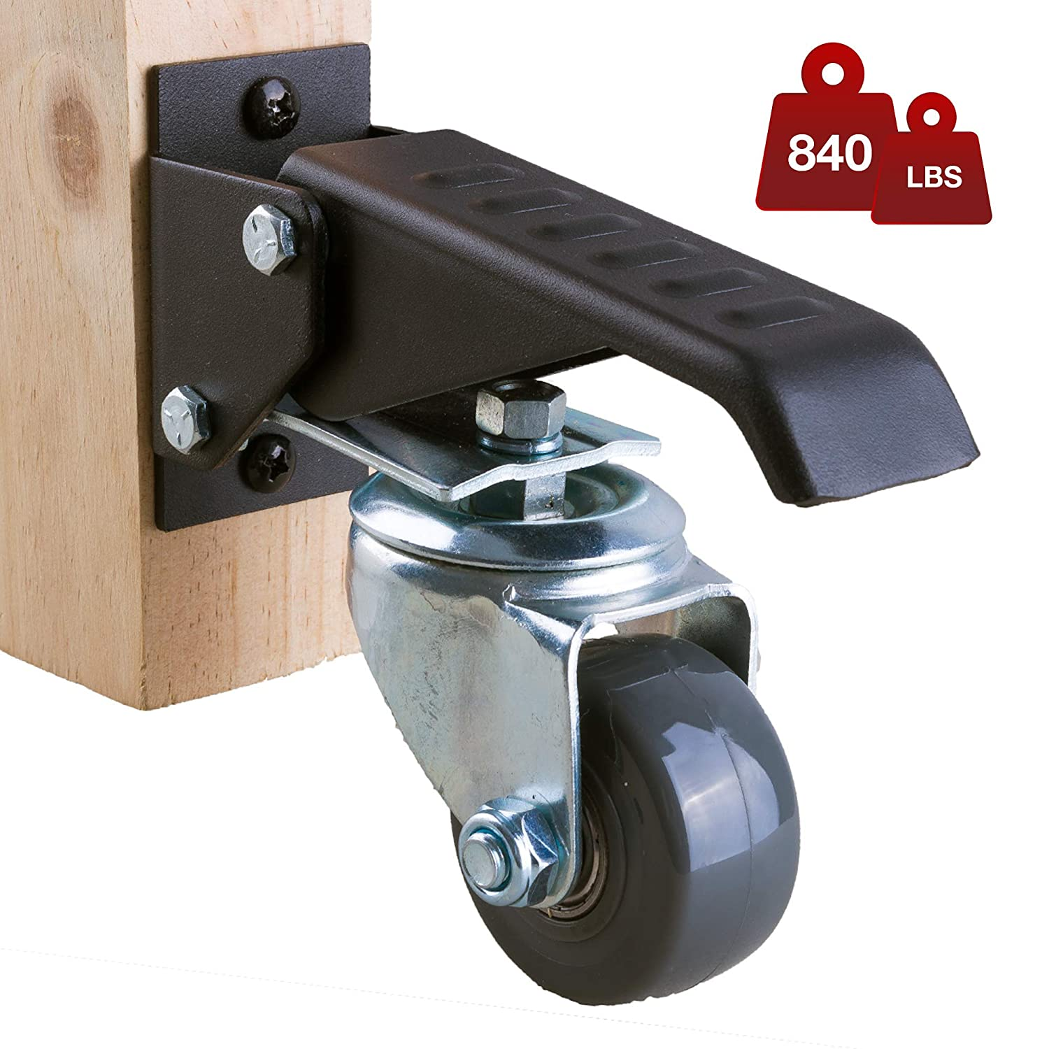 Workbench Casters Kit 4 Heavy Duty Retractable Wheels for Machinery and Tables