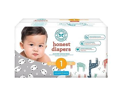 Honesto bebé pañales, Club caja, cartucho, blanco, multicolor, diseño de jirafas
