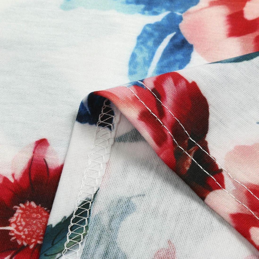 ... Sonnena ❤ ❤ ❤ Niñas Bohemian Retro Flores Estampado Vestido Manga Corto Largo Vestido de una Pieza de Deportes al Aire Libre para Chica Joven ...