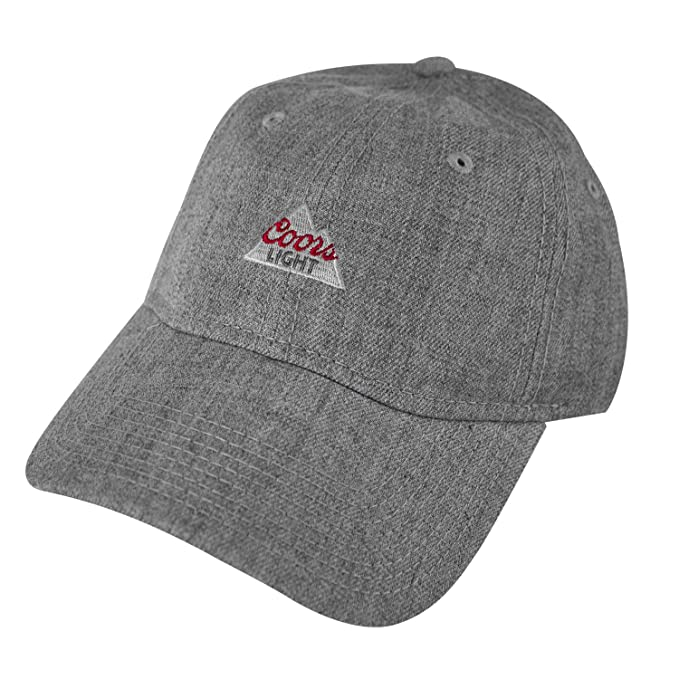 03d27e1297cc2 Coors Light Logo Heather Grey Dad Hat Standard at Amazon Men s ...