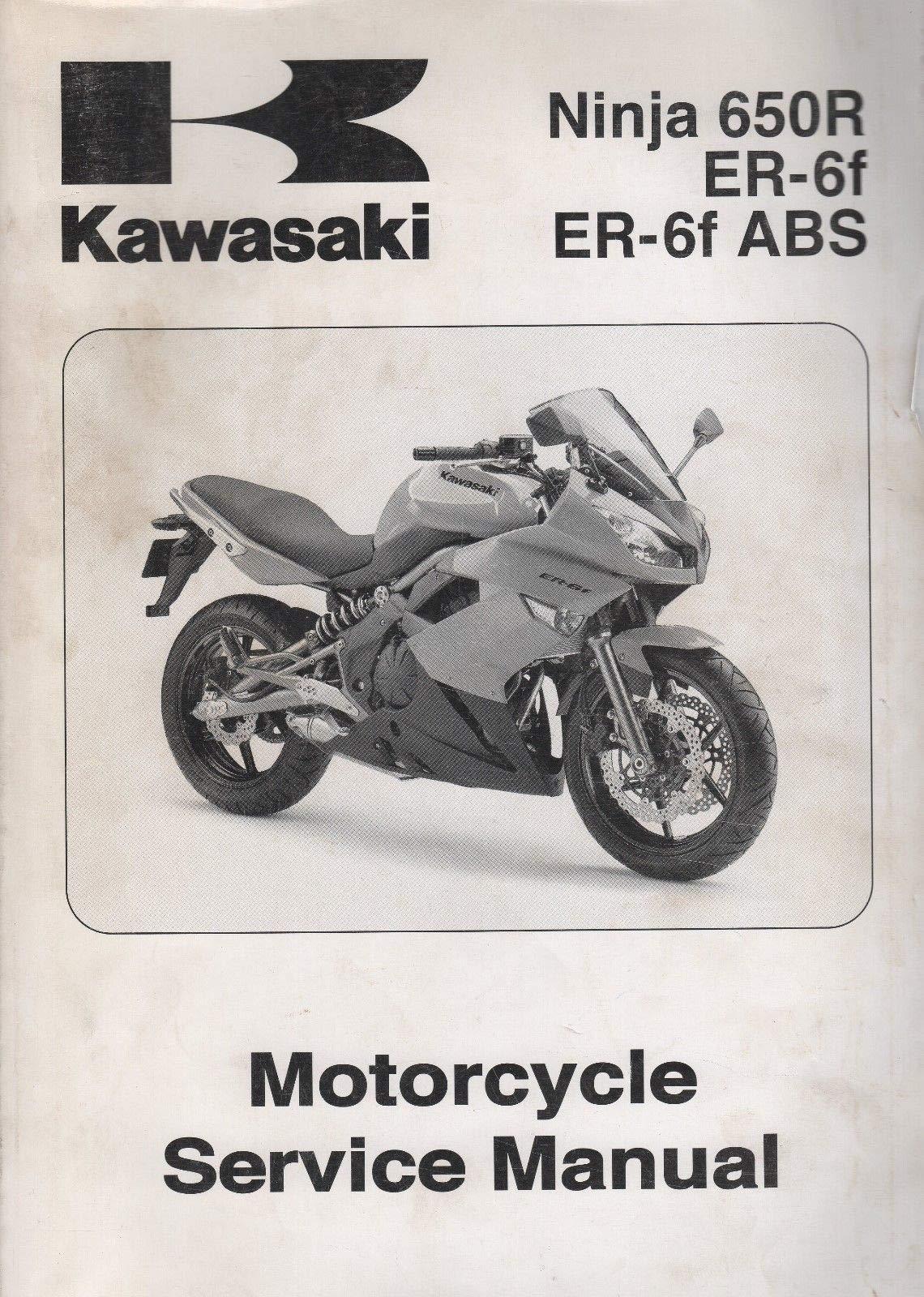 2009 KAWASAKI MOTORCYCLE NINJA 650R, ER-6f SERVICE MANUAL P ...