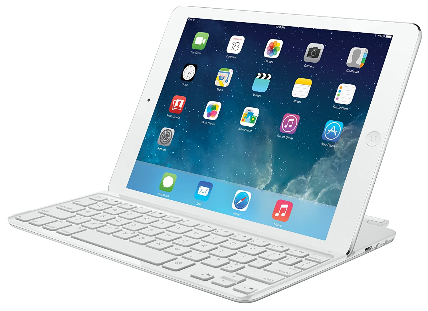 Logitech Ultrathin Keyboard Cover for Ipad 5th Gen, White 920-005519