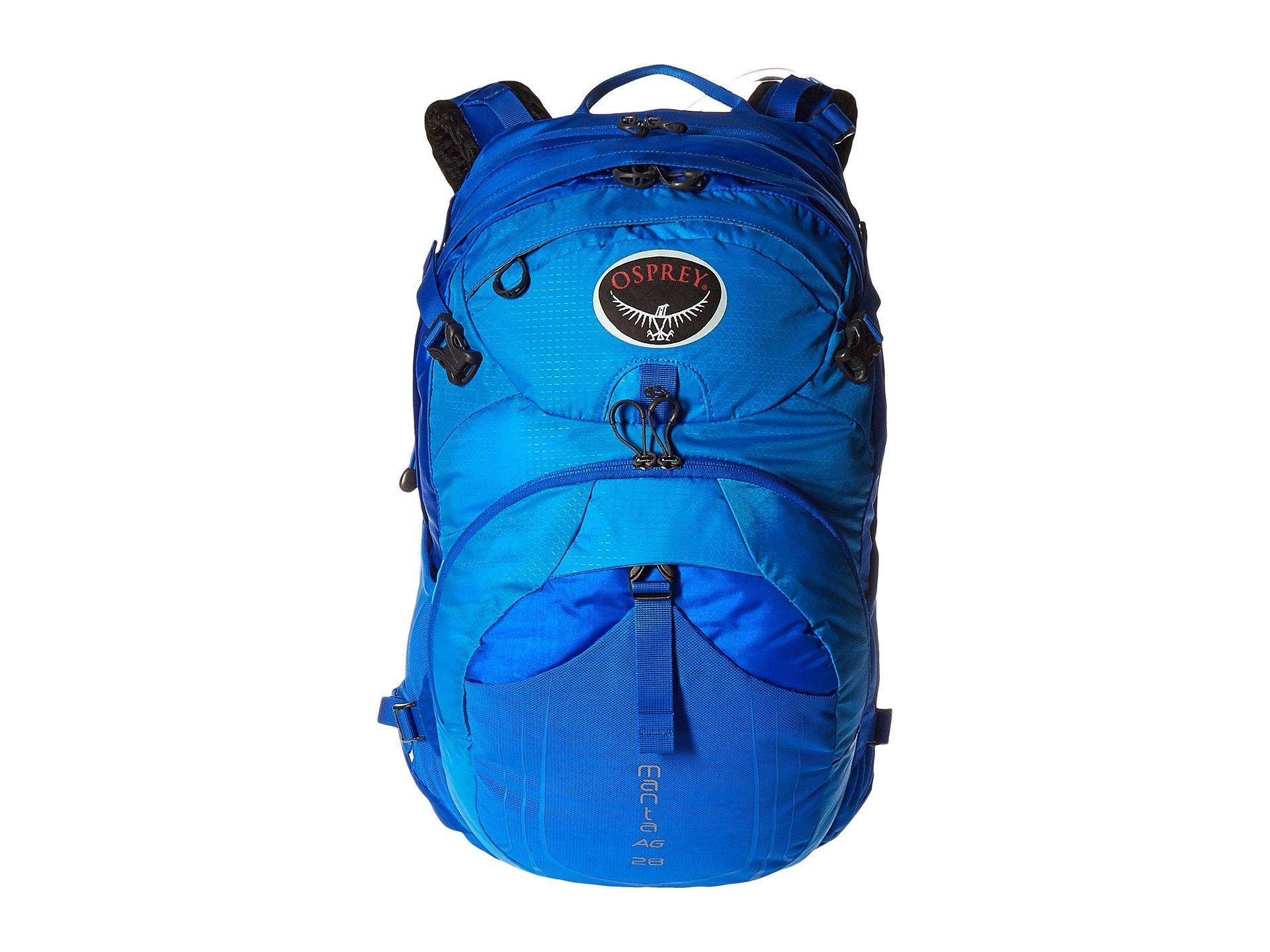 Osprey Packs Manta AG 28 Hydration Pack, Sonic Blue, Medium/Large