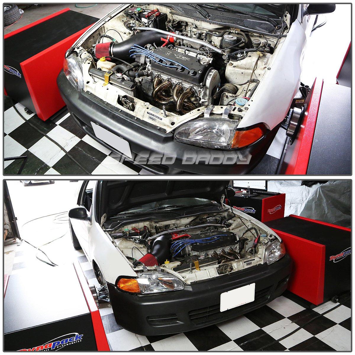 Honda Civic Ej EG EK arrastre acero inoxidable encabezado colector de escape + tubo de prueba de alto rendimiento: Amazon.es: Coche y moto