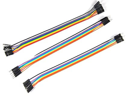 Robo India Jumper Wire - 10 Male to Male + 10 to + 10 Male to on black is best, do is best, less is best,