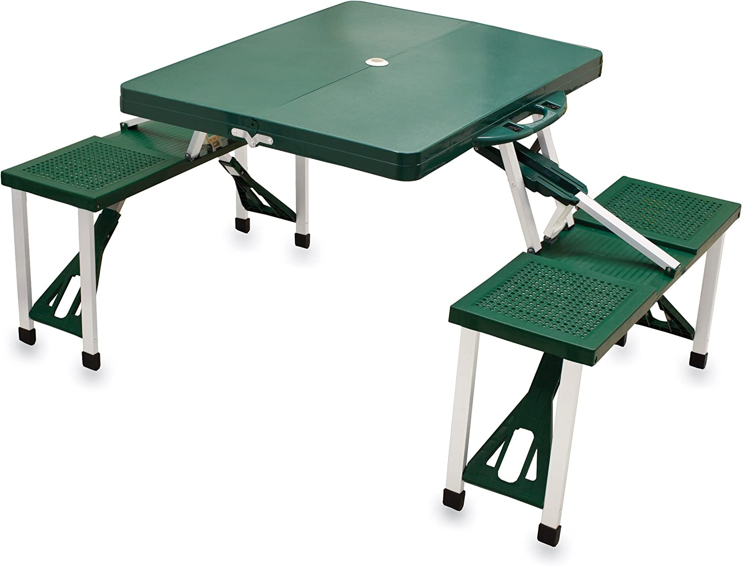 ONIVA - a Picnic Time Brand Portable Folding Picnic Table with Seating for 4, Green
