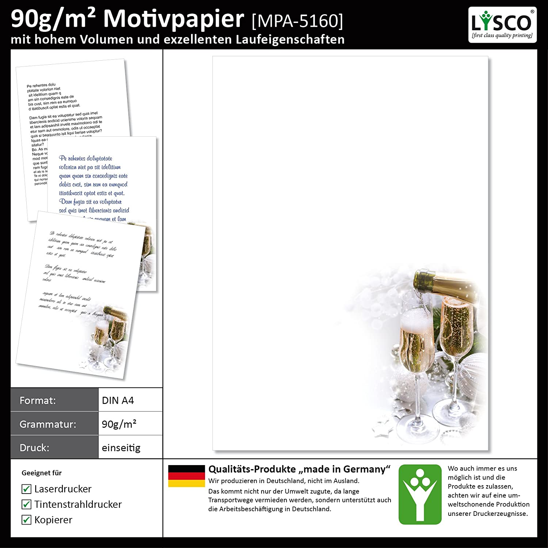Motivpapier Briefpapier FEUERWERK AM HAFEN 25 Blatt DIN A4