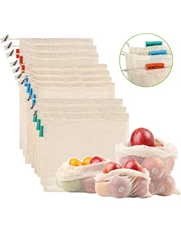 71adb5258 NEWSTYLE Bolsa de Producción Reutilizable,Juego de 10 Bolsas de Malla  Reutilizables Perfectas para Productos