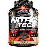 MuscleTech NitroTech Pure Whey Protein, 100% Whey Protein Powder, Whey Isolate and Whey Peptides, Vanilla, 4 Pound