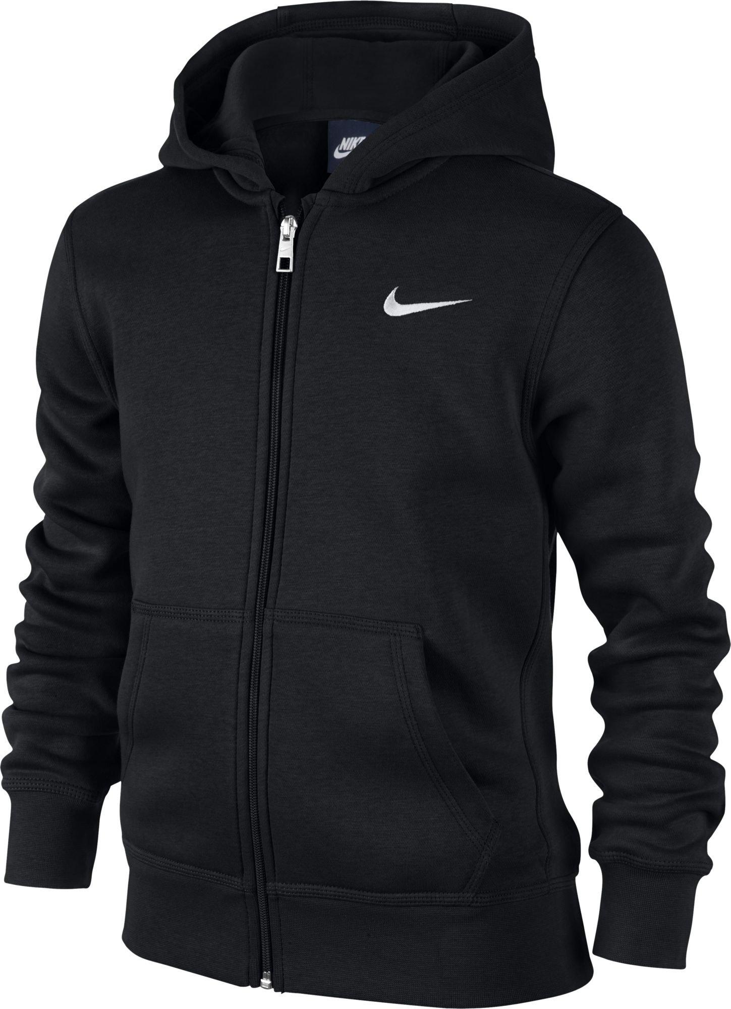 Nike Brushed Fleece Full-Zip (8y-15y) Older Boys' Hoodie (Black, XS) by NIKE
