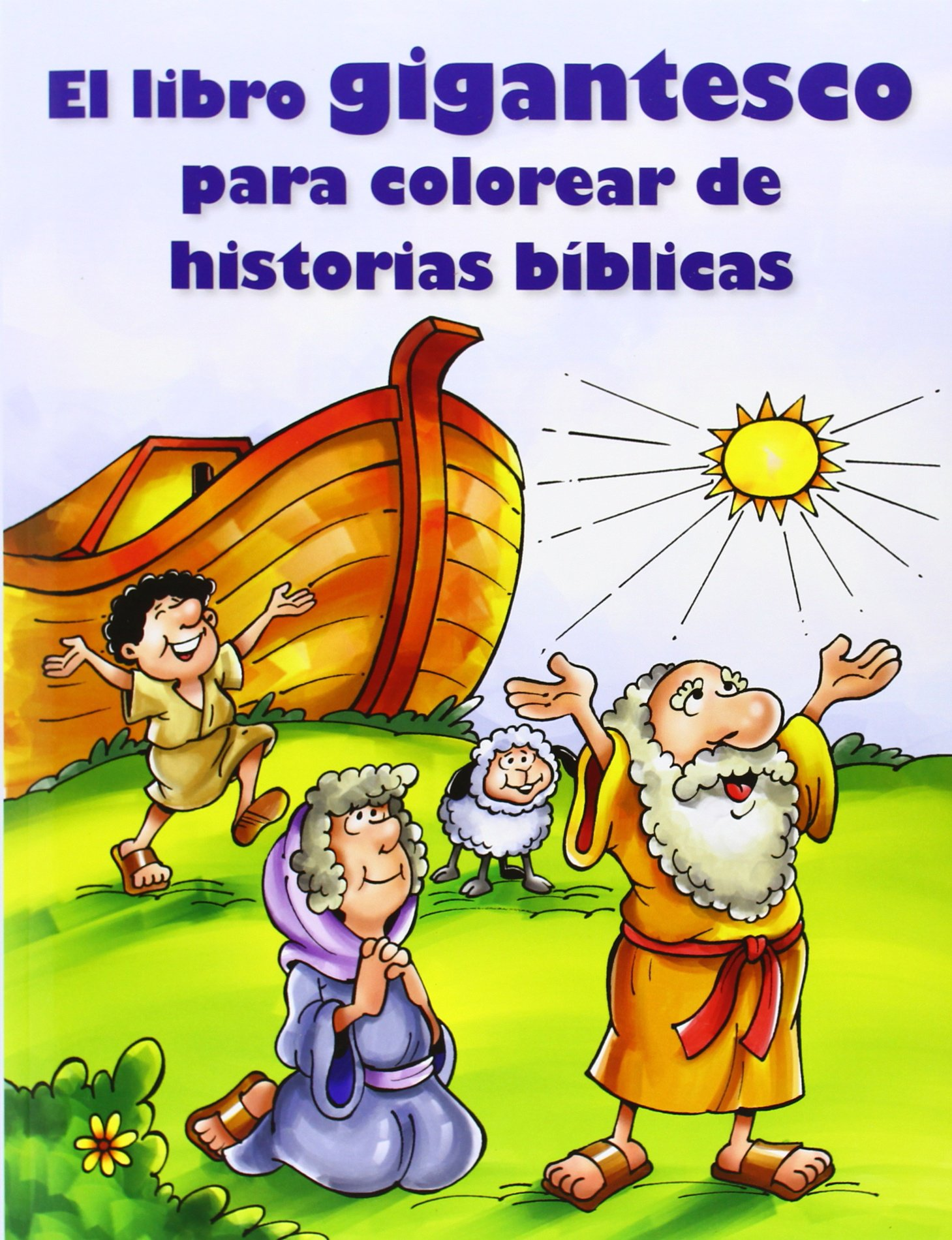 El Libro Gigantesco Para Colorear de Historias Biblicas: Amazon.es ...