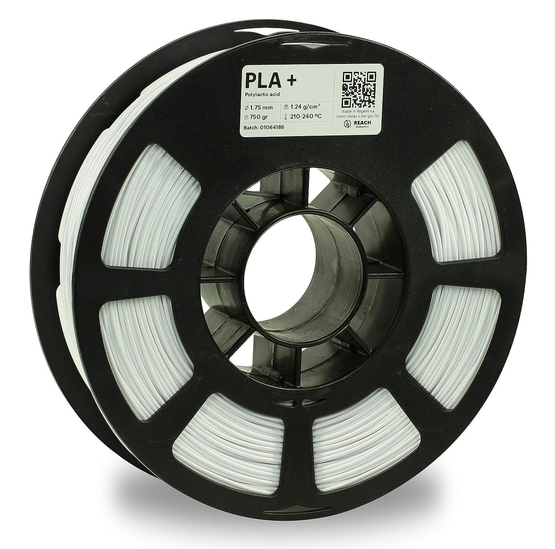 KODAK PLA Plus 3D printer filament WHITE color, +/- 0.03 mm, 750g (1.6lbs) Spool, 1.75 mm. Lowest moisture premium filament in Vacuum Sealed Aluminum Ziploc bag with Silica Gel. Fits Most FDM Printers