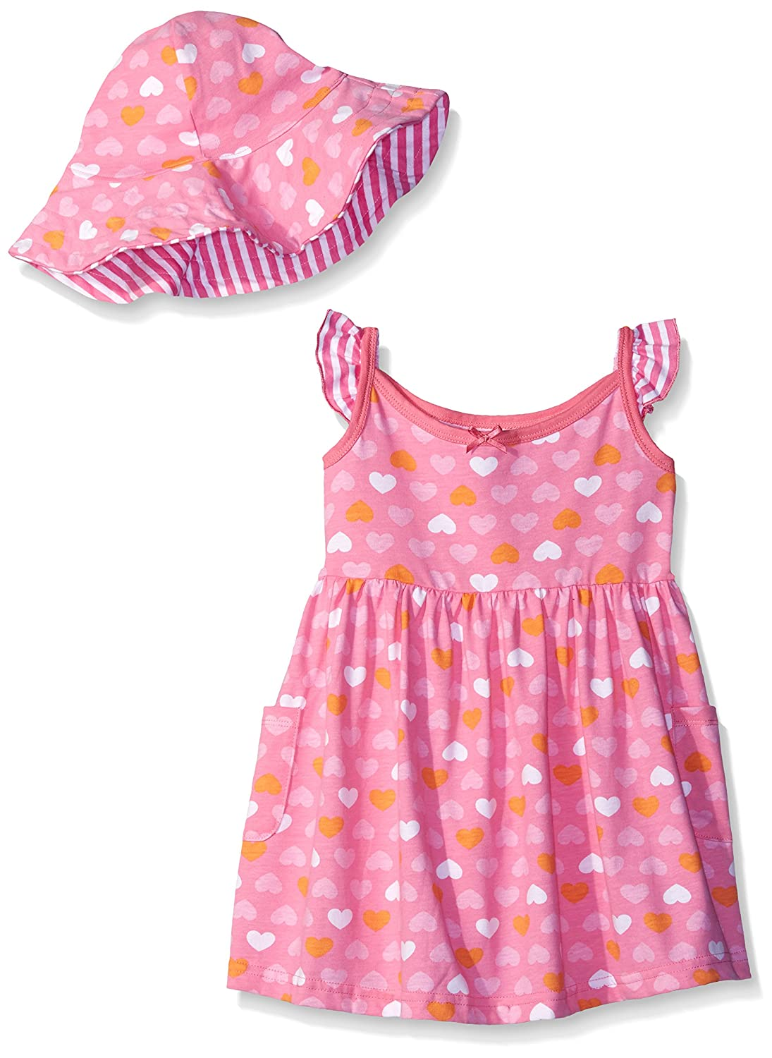Gerber Baby Girls' Toddler Two-Piece Sundress and Hat Set Gerber Children' s Apparel
