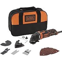 BLACK+DECKER MT300SA2-QS multifunctioneel gereedschap met accessoires in tas, oranje, zwart, 300 W