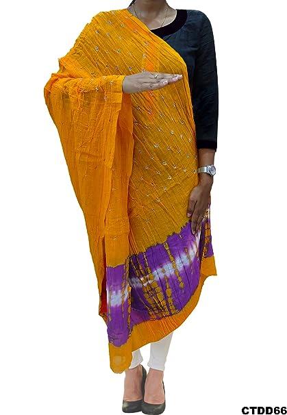 Rajastán indio lazo de algodón y dupatta impresos tinte estola del abrigo del mantón mujeres: Amazon.es: Ropa y accesorios