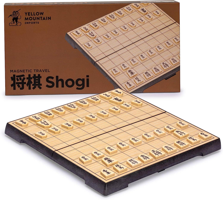 MIKI-Z Juego de Shogi Plegable magn/ético Plegable en Caja Ajedrez japon/és port/átil para ni/ños Suministros para Juegos Infantiles