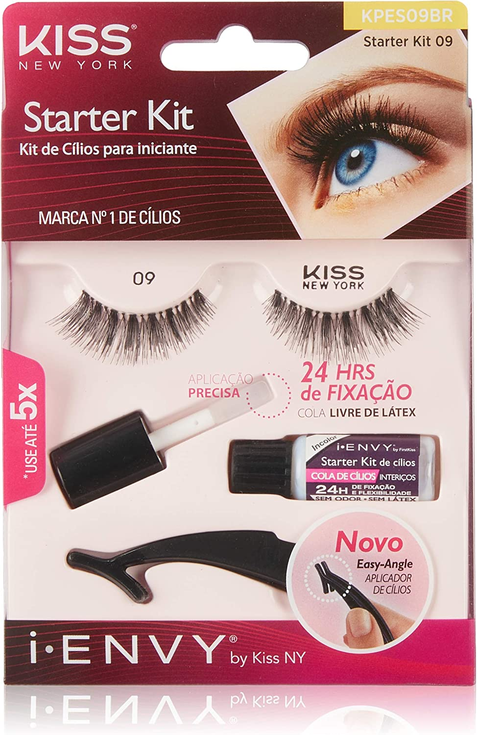 Kit de cílios para iniciante - I-Envy By Kiss NY