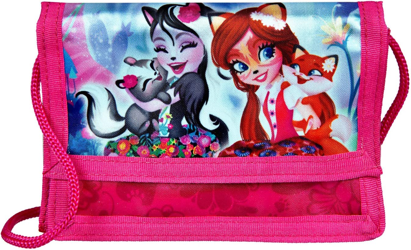 Enchantimals Pink 8 x 12 2 cm Monedero ca Undercover Geld- und Brustbeutel Rosa cm