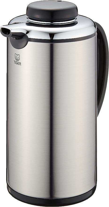 Amazon|タイガー 魔法瓶 保温 保冷 卓上 ガラス魔法瓶 テーブルポット 0.99L 業務用 PRJ-010P Tiger シルバー|保温卓上ポット オンライン通販