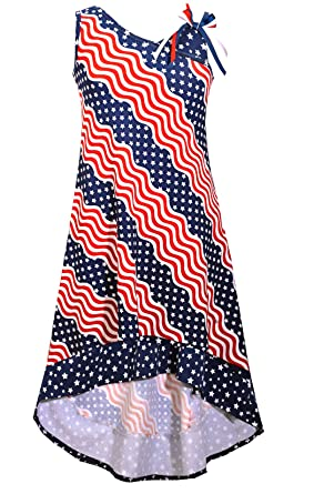 Amazon Com Bonnie Jean Big Girls Red White Blue Americana 4th July