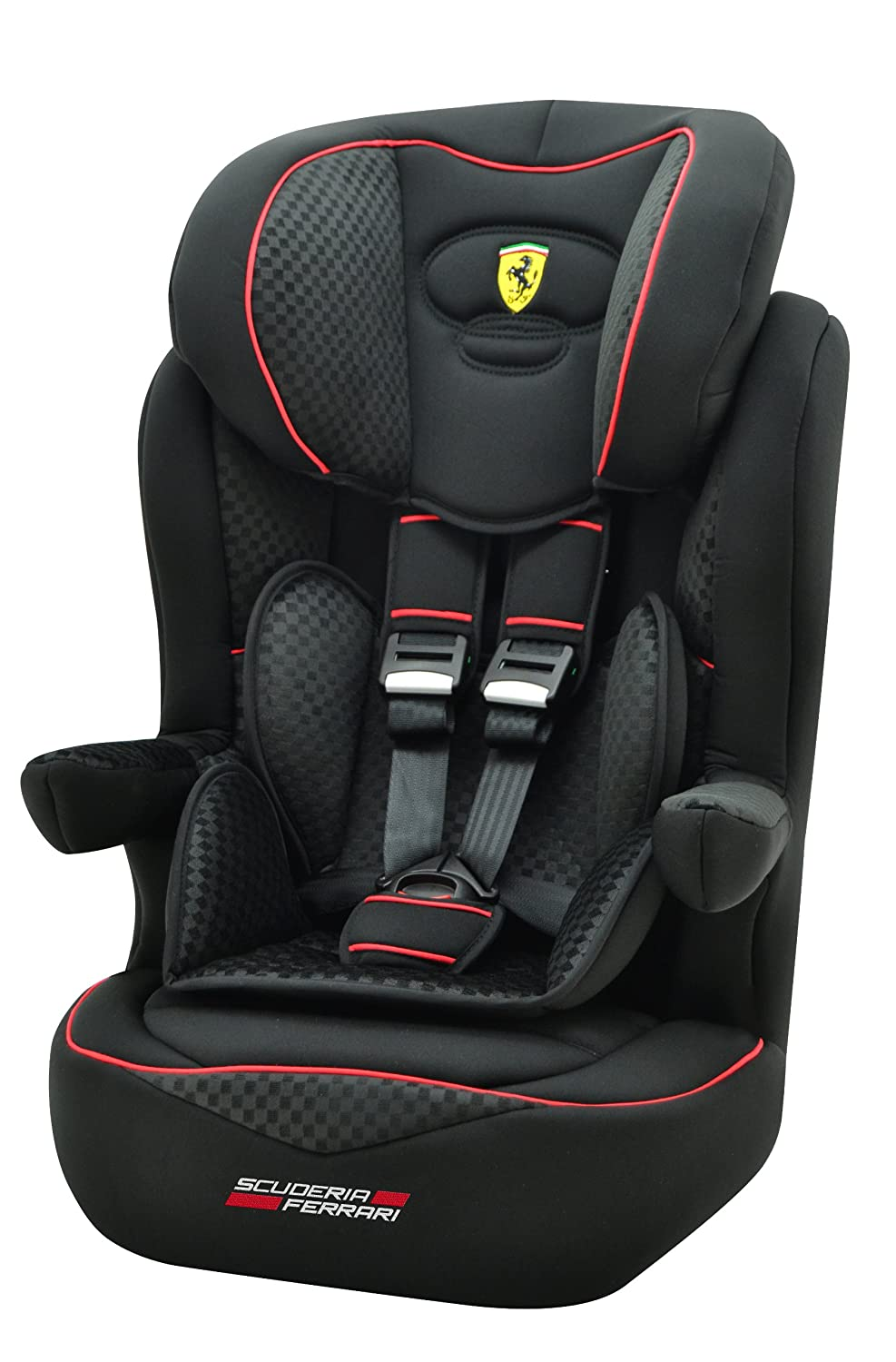 Ferrari 102-124-156 - Seggiolino auto i-max SP Isofix, Gran Tourismo, gruppo 1/2/3, 9-36 kg, certificazione ECE, colore: Nero 3507469660549