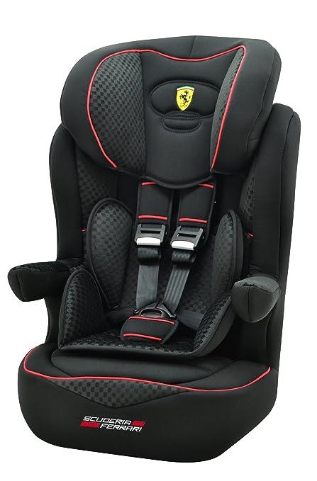 Ferrari, Silla de coche grupo 1/2/3 Isofix, negro: Amazon.es ...