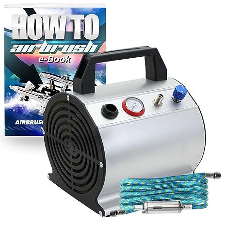 Amazon.com: pointzero bajo nivel de ruido oil-less aerógrafo ...