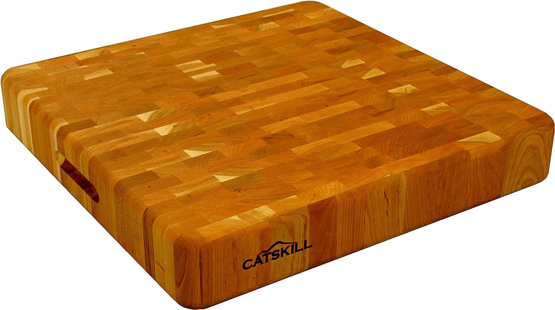 Amazon Com Catskill Craftsmen Wood End Grain Cutting Slab Cutting Boards Kitchen Dining