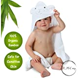 Bamboo Hooded Baby Towel By H. McCurry: 100% Organic Unisex Towel, Highly Absorbent And Super Soft – Hypoallergenic And Antibacterial Bath Towel For The Pool And The Beach – Great Baby Shower Gift