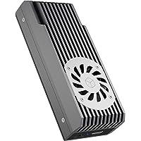 ICY BOX M.2 NVMe - Carcasa con ventilador (USB 3.1 Gen2, USB-C, para M.2 SSD PCIe M-Key, aluminiumo)