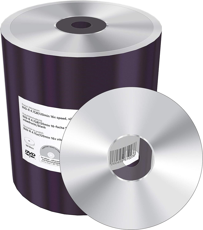 Dvd R 4 7gb 120min 16x Speed Silver Unprinted Computer Zubehör