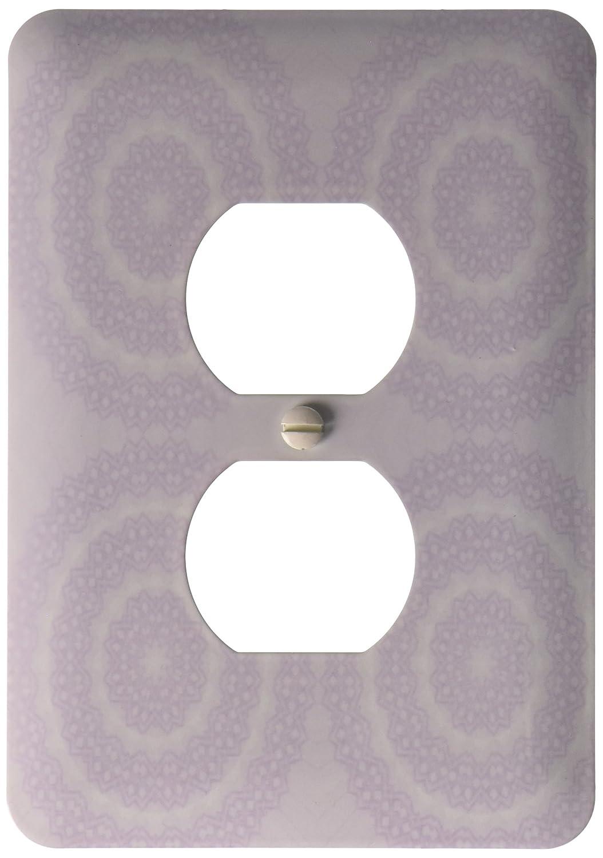 3dRose lsp/_111975/_6 Four Light Purple Lacy Circles 2 Plug Outlet Cover Multicolor