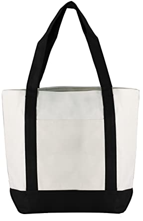 Amazon.com: Zipper Canvas Tote Bag: Shoes