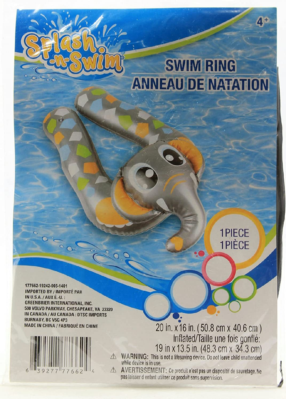 Elephant Splash-N-Swim Kids Animal Split Ring