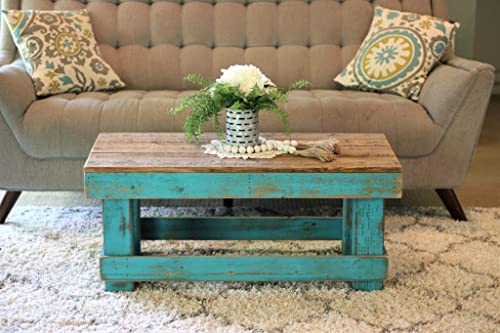 Turquoise Combo Coffee Table