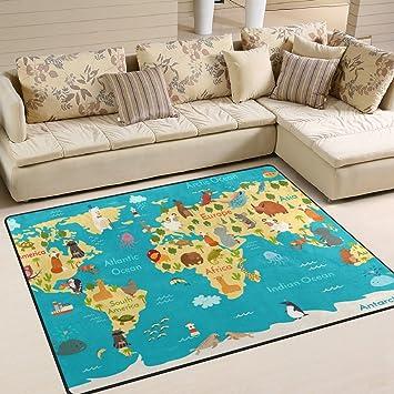 Amazon De Jstel Ingbags Modern Weich Mit Weltkarte Teppiche