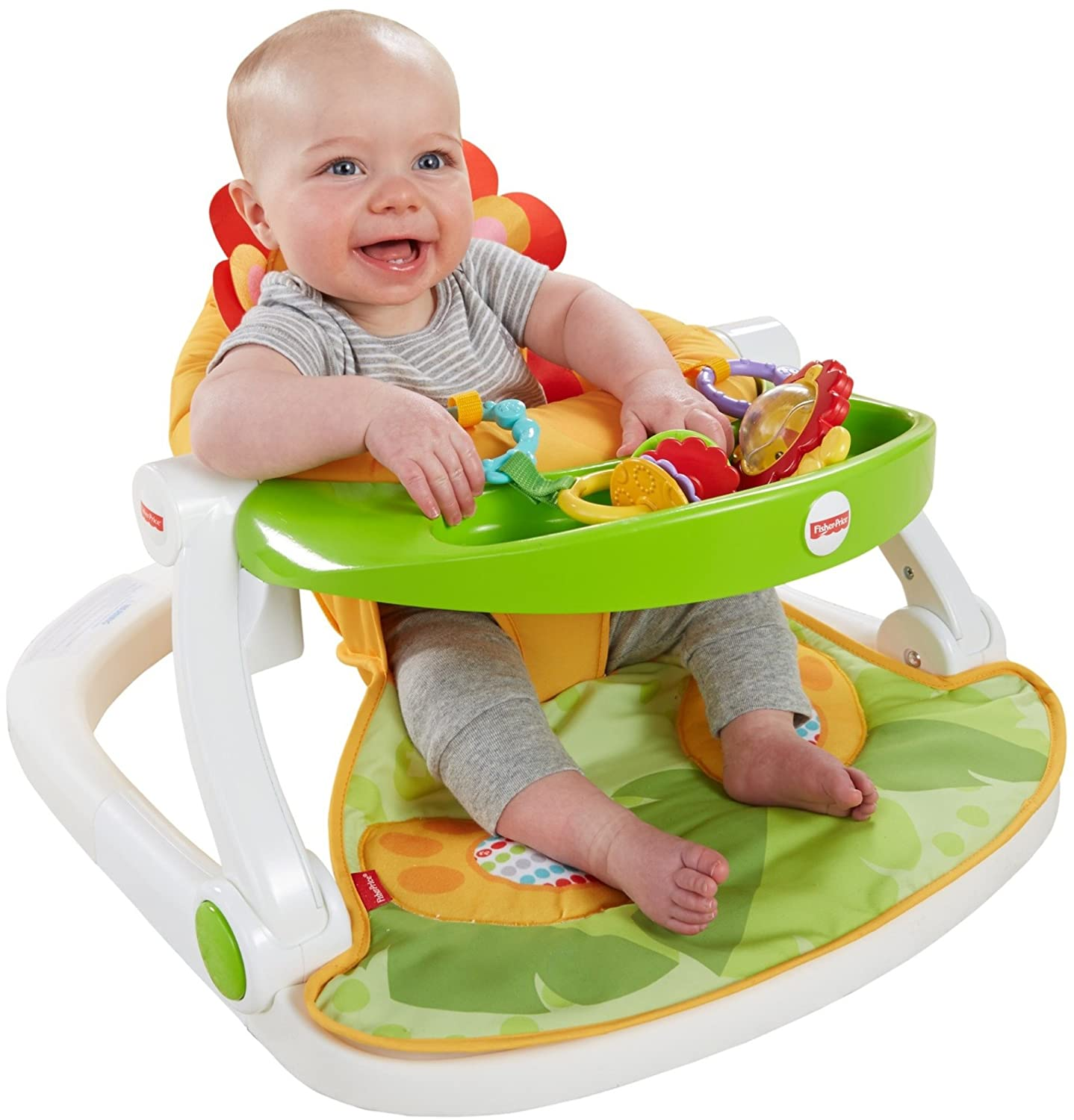Happy Hills Fisher-Price Sit-Me-Up Floor Seat with Toy Tray