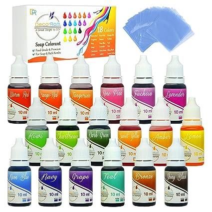 Amazon.com: 18 Color Bath Bomb Soap Dye with Shrink Wrap Bags - Food ...