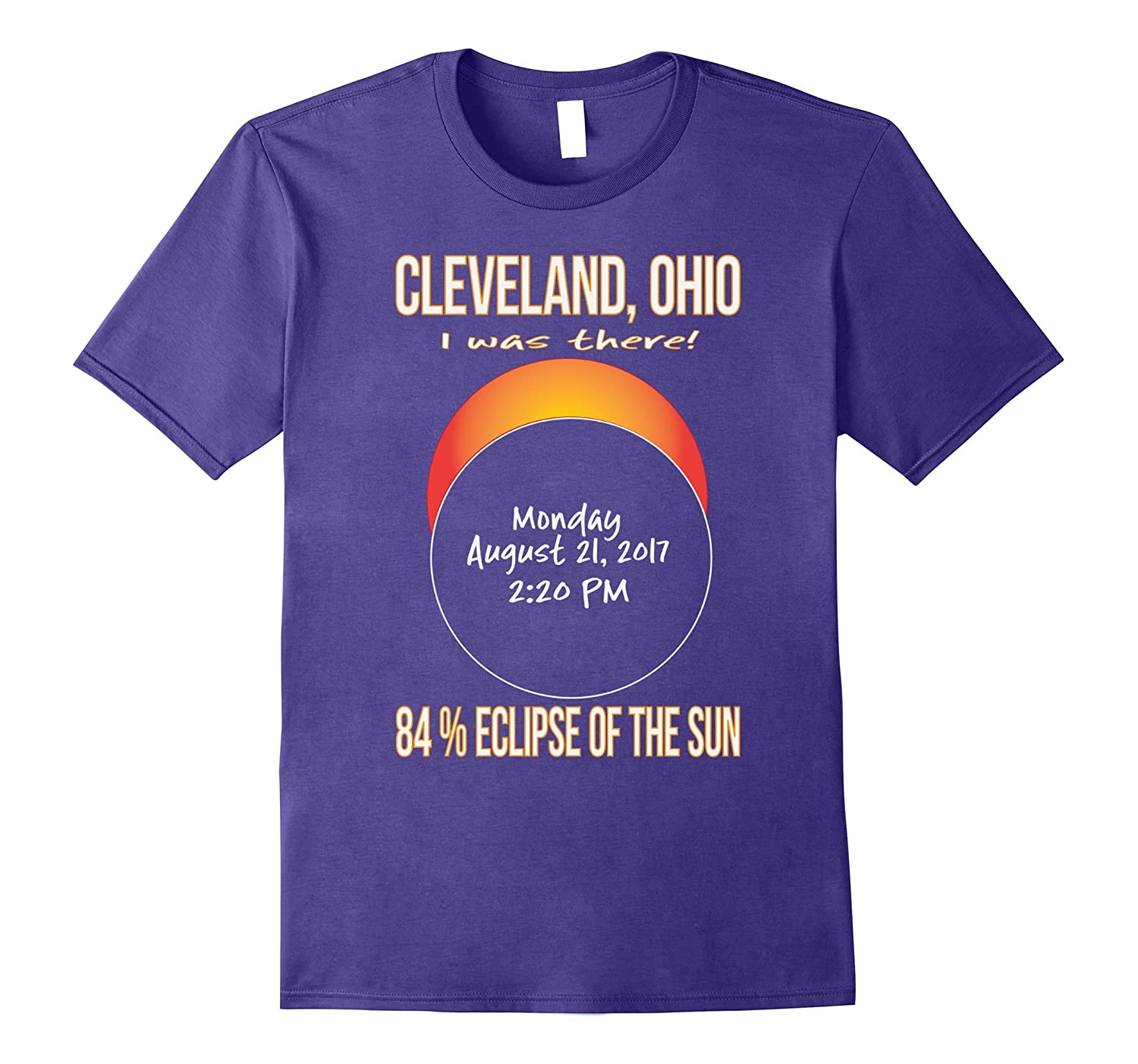 2017 Cleveland, Ohio Eclipse Souvenir T Shirt-Art