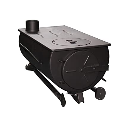 Tent Heater Shasta Vent Portable with venting /& Carry case Military style Frontier Stove 25 lbs. Camping wood stove Ice Fishing