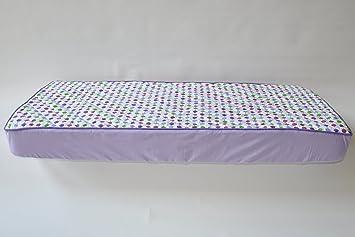 Amazon.com : Botanical Purple Quilted Crib Sheet : Crib Fitted ... : quilted crib sheet - Adamdwight.com