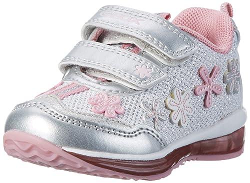 Geox B Todo Girl A, Botines de Senderismo para Bebés, Blanco (White/silverc0007), 24 EU: Amazon.es: Zapatos y complementos